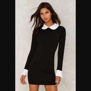 Nasty Gal • Pan Collared Long Sleeve Mini Dress